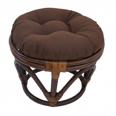 Xavier Ottoman Upholstery: Chocolate