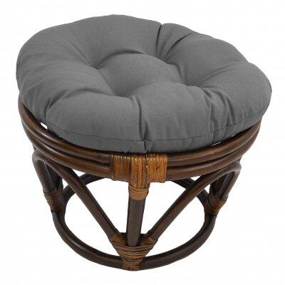 Xavier Ottoman Upholstery: Grey