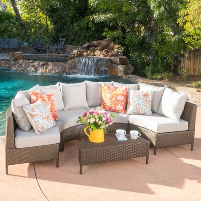 Norland 5 Piece Sectional Seating Group with Cushion