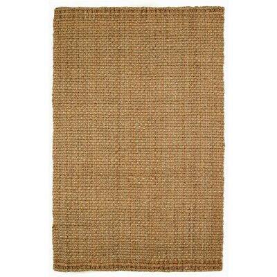 Foxton Hand-Woven Natural Jute Area Rug Rug Size: 5 x 8