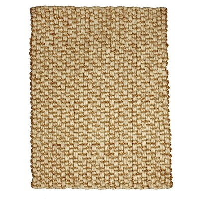 Kelston Hand-Woven Jute and Wool Beige Area Rug