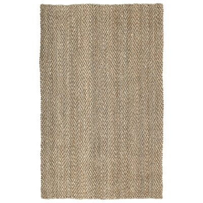 Rose Coir Brown Area Rug Rug Size: Rectangle 4 x 6