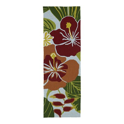 Jamaica Hand-Tufted Indoor/Outdoor Area Rug Rug Size: Runner 2 x 6