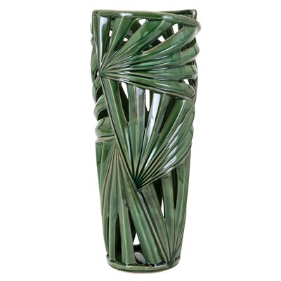 Cylinder Green Floor Vase Size: Large