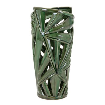 Cylinder Green Floor Vase Size: Small