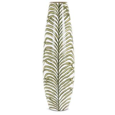 Palm Handpainted Floor Vase Size: Large