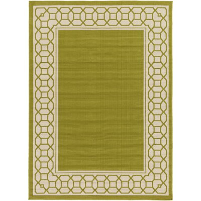 Bethel Lime/Khaki Indoor/Outdoor Area Rug Rug Size: 53 x 73