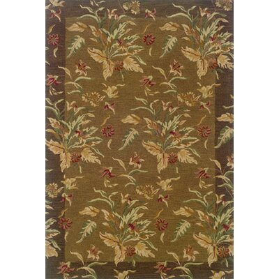 Brierley Hand-made Tan/Brown Area Rug Rug Size: 5 x 8