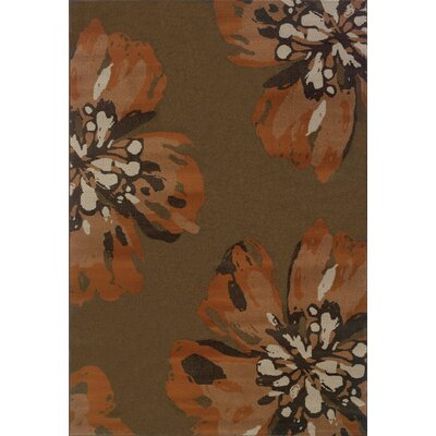 Hannam Brown/Orange Area Rug Rug Size: Rectangle 710 x 1010