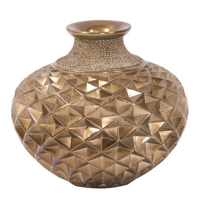 Dark Gold Textured Table Vase