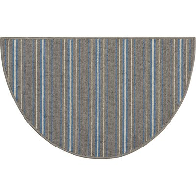 Montclair Hand-Tufted Gray Area Rug Rug Size: Wedge 17 x 28