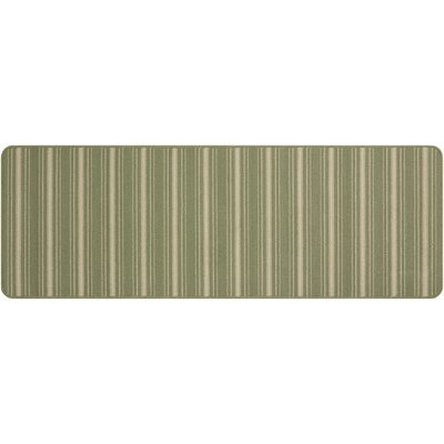 Clairmont Hand-Tufted Light Green Area Rug Rug Size: Runner 19 x 5