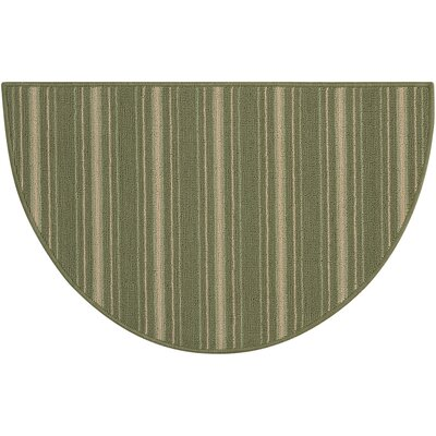 Clairmont Hand-Tufted Light Green Area Rug Rug Size: Wedge 17 x 28