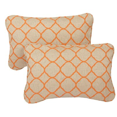 Miami Outdoor Sunbrella Lumbar Pillow Size: 13 H x 20 W x 6 D