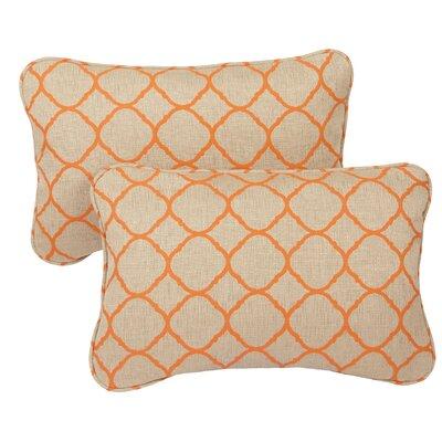 Miami Outdoor Sunbrella Lumbar Pillow Size: 13 H x 20 W x 6 D