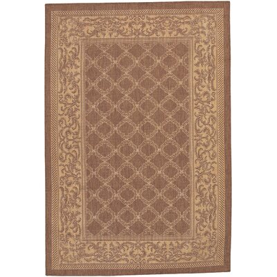 Celia Cocoa/Natural Indoor/Outdoor Area Rug Rug Size: 76 x 109