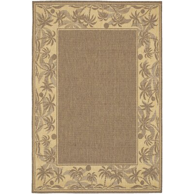 Celia Beige/Brown Indoor/Outdoor Area Rug Rug Size: Round 86