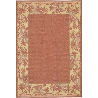 Celia Beige/Tan Indoor/Outdoor Area Rug Rug Size: 53 x 76
