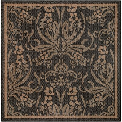 Celia Black/Yellow Indoor/Outdoor Area Rug Rug Size: Square 86
