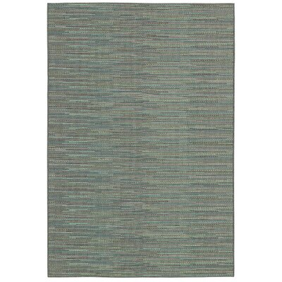 Kelston Blue Indoor/Outdoor Area Rug Rug Size: 53 x 76