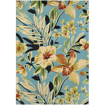 Wallingford Whimsical Garden Hand-Knotted Indoor/Outdoor Area Rug Rug Size: 36 x 56