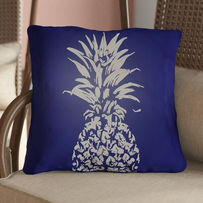 Jazmine Outdoor Throw Pillow Size: 18 H x 18 W x 4 D, Color: Blue