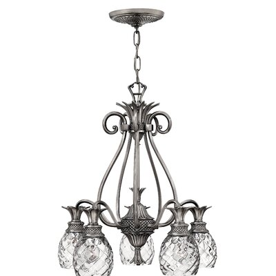 Terry 5-Light Shaded Chandelier Finish: Antique Nickel
