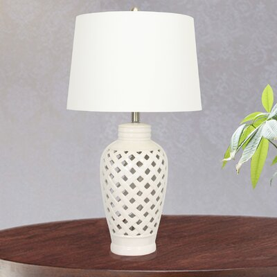 Shelburne 26 Table Lamp Base Finish: White