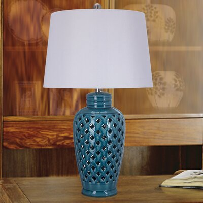 Shelburne 26 Table Lamp Base Finish: Blue