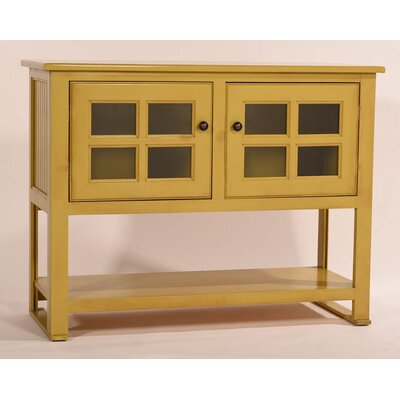 Aisley Console Table Color: European Ivory