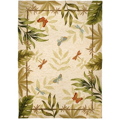 Harrow Butterflies and Dragonflies Indoor/Outdoor Area Rug Rug Size: 5 x 7
