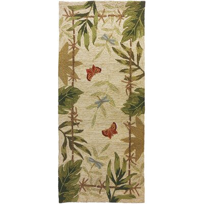 Harrow Butterflies and Dragonflies Indoor/Outdoor Area Rug Rug Size: 22 x 5