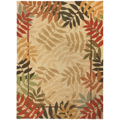 Harrow Orange Painted Rain Forest Indoor/Outdoor Area Rug Rug Size: 5 x 7