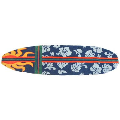 Barnstable Surfboard Navy Area Rug Rug Size: 18 x 6
