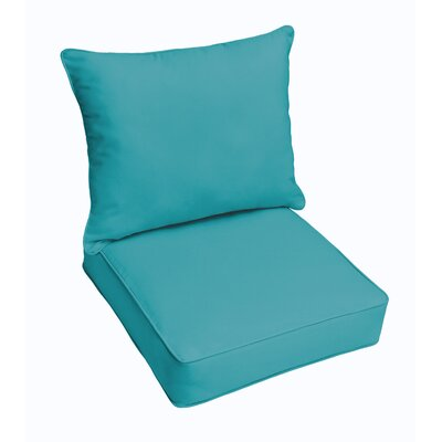 Hanson Dining Chair Cushion Fabric: Aruba Blue