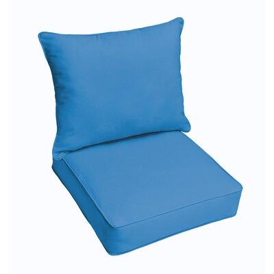 Hanson Outdoor Sunbrella Dining Chair Cushion Fabric: Blue