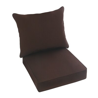 Hanson Outdoor Sunbrella Dining Chair Cushion Fabric: Brown