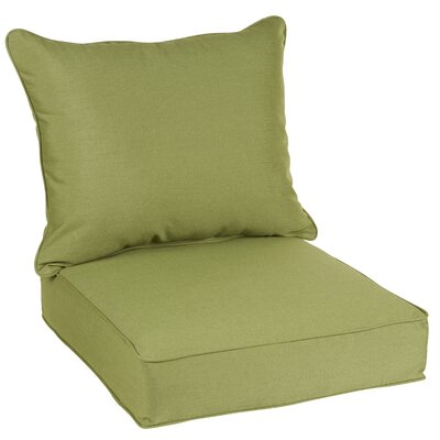 Hanson Outdoor Sunbrella Dining Chair Cushion Fabric: Cilantro Green
