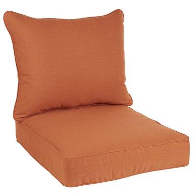 Hanson Outdoor Sunbrella Dining Chair Cushion Fabric: Rust