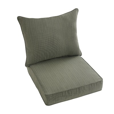 Hanson Outdoor Sunbrella Dining Chair Cushion Fabric: Green