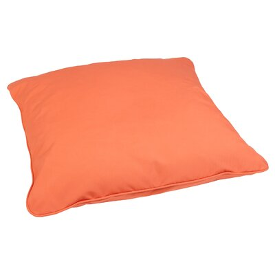 Tolliver Corded Indoor/Outdoor Sunbrella Throw Pillow Fabric: Canvas Melon