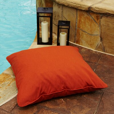 Tolliver Corded Indoor/Outdoor Sunbrella Throw Pillow Fabric: Canvas Rust