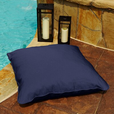 Tolliver Corded Indoor/Outdoor Sunbrella Throw Pillow Fabric: Canvas Navy