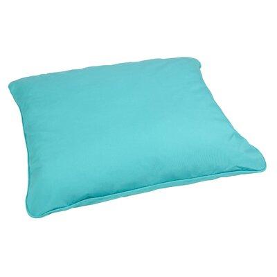 Tolliver Corded Indoor/Outdoor Sunbrella Throw Pillow Fabric: Canvas Aruba