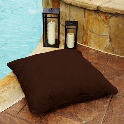 Tolliver Corded Indoor/Outdoor Sunbrella Throw Pillow Fabric: Canvas Bay Brown