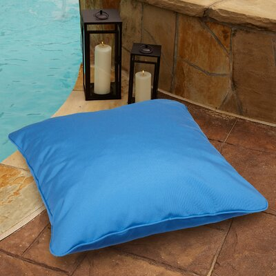 Tolliver Corded Indoor/Outdoor Sunbrella Throw Pillow Fabric: Canvas Blue