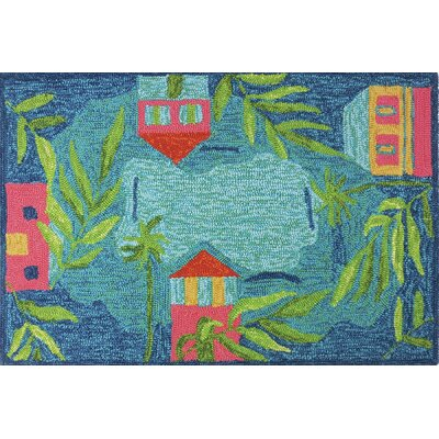 McIntosh Sail Away Indoor/Outdoor Area Rug Rug Size: 3 x 5