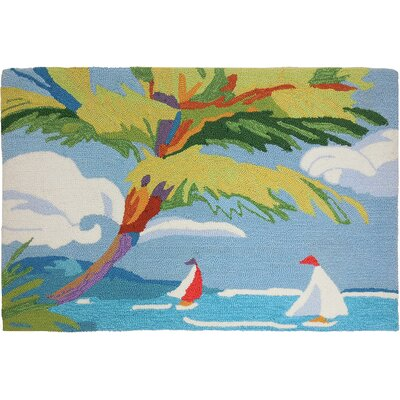 Barnstable Tropical Sail Light Blue Area Rug