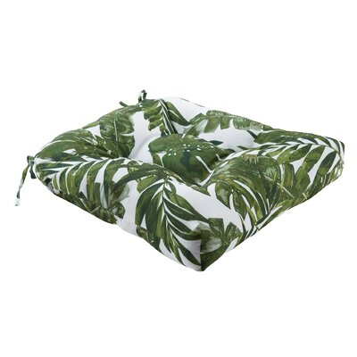 Image of Allyson 3M Scotchgard Indoor/Outdoor Dining Chair Cushion Color: Green