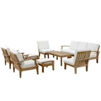 Elaina Teak 10 Piece Deep Seating Group